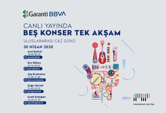 Garanti BBVA'yla Bir Caz Akşamı: Canlı Yayında 5 Konser