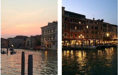 Venedik'te günbatımı