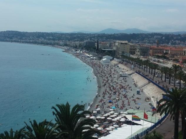 Nice Kalesi'nden Promenade des Anglais