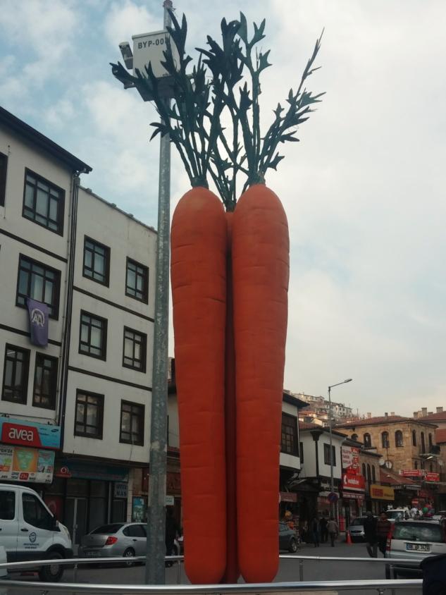 meydandaki havuç heykeli