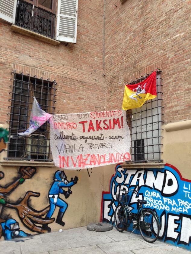 Bologna'da öğrencilerin eylemi