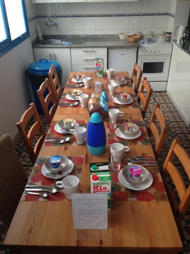 Breakfast at Sol y Mar Surf Hostel