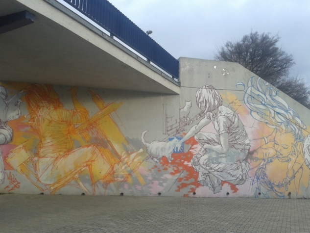 kadın figürü graffiti