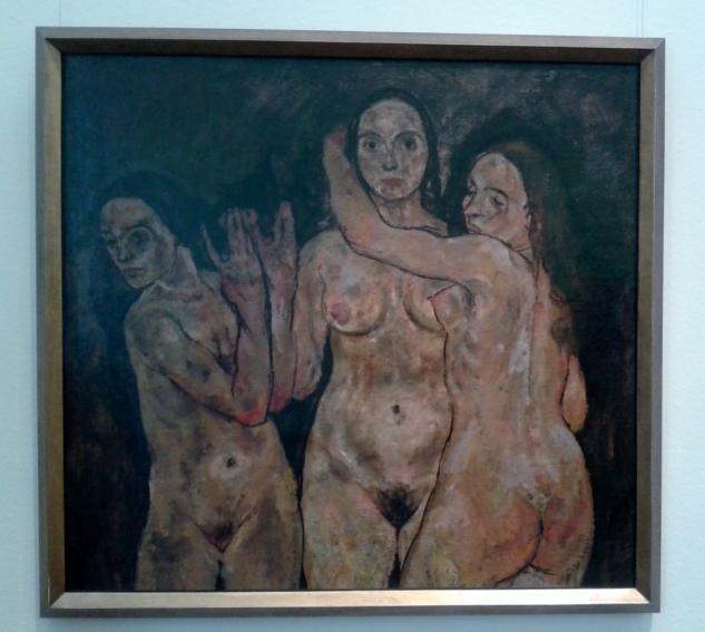 three standing women-schiele