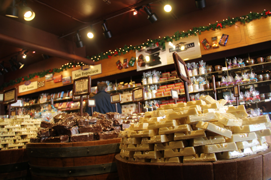 Pier 39'daki Çikolata Dükkanı
