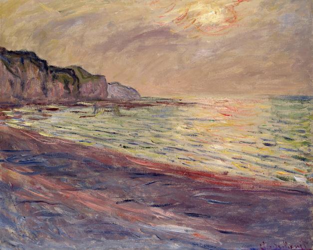 Pourville Kumsalı, Günbatımı, 1882