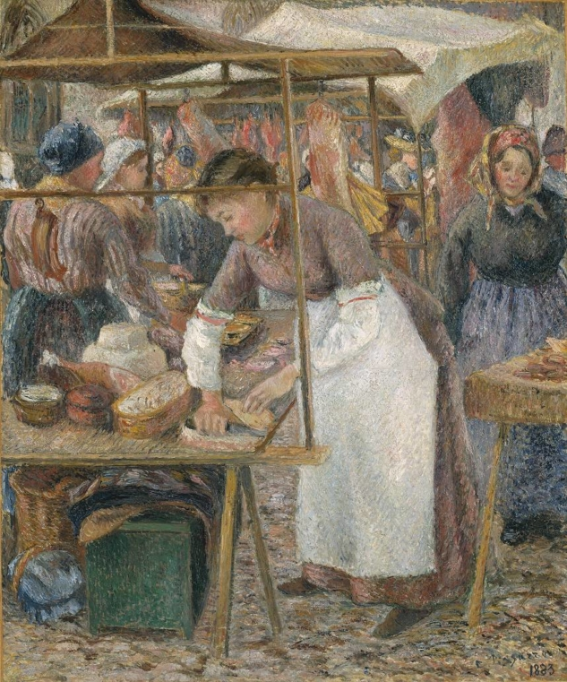 The Pork Butcher 1883 by Camille Pissarro 1830-1903
