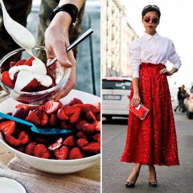 Food & Fashion Mash-Up: Hem Göze Hem Mideye Hitap Eden Fotoğraflar!