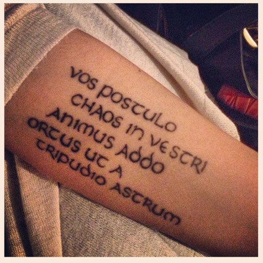 Yasemin Dormen – Nietzsche Tattoo
