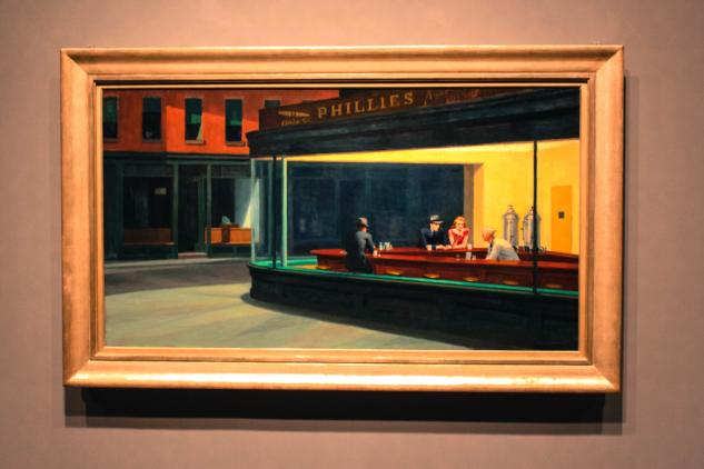 nighthawks – edward hopper Whitney Museum of American Art