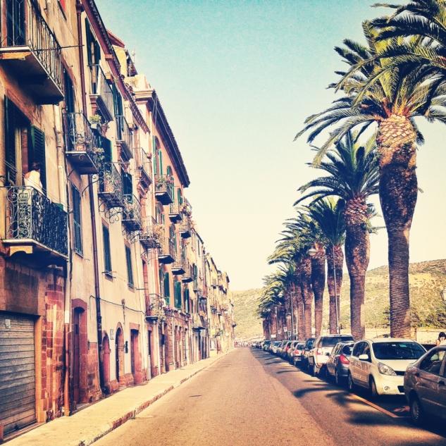 Bosa Kasabası Sardenya