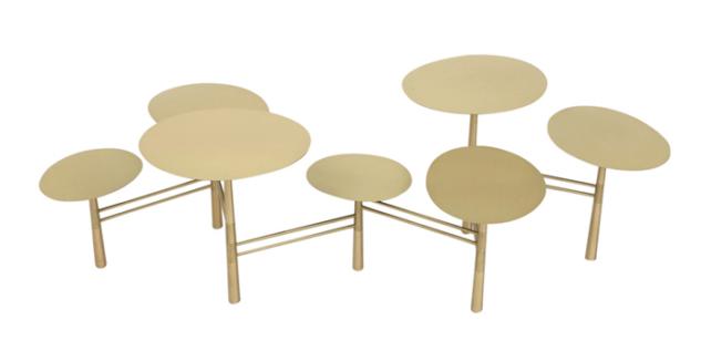 pebble table by nada debs, mondo collection