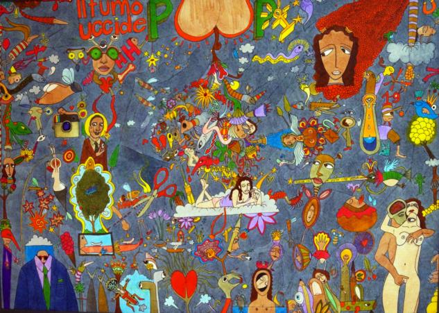 Poop Art, 2014, 42×60 cm, kağıt üzerine mürekkep