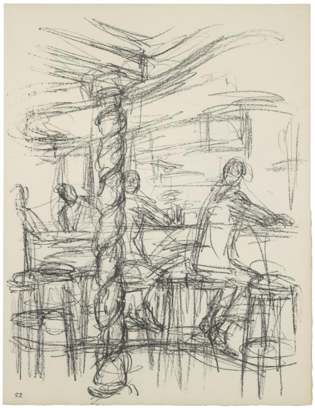 Alberto Giacometti Chez Adrien'in barı (III) The bar at Chez Adrien (III)