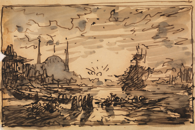 Istanbul, Bogaz'da Gunbatimi – Constantinople, Sunset over the Bosphorus