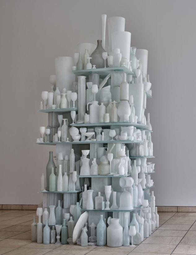 Eroded Landscape_#13_234x120x125_Glass_1999_Michael Richter