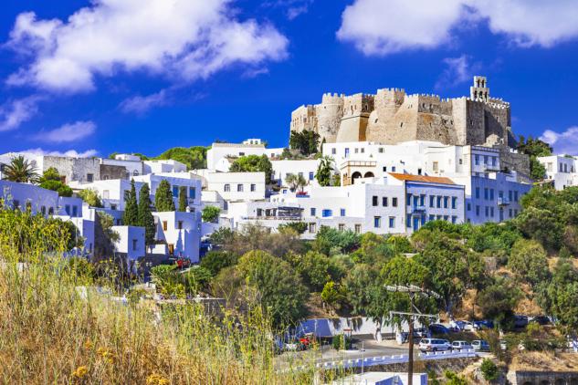 Patmos island, Dodecanese, Greece. Unesco heritage site