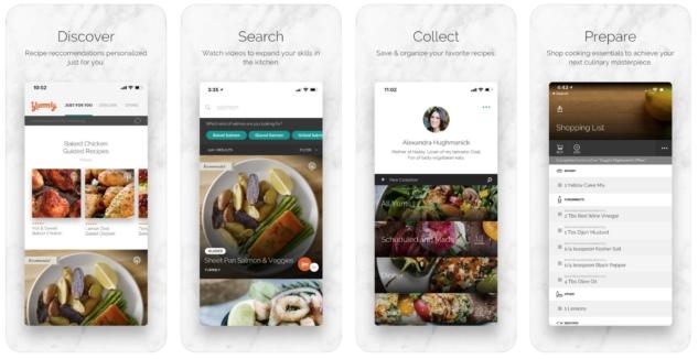 yemek tarifi uygulamalari – yummly