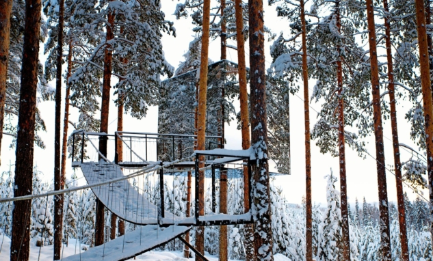 nordik kış otelleri – treehotel – placeaholic.com
