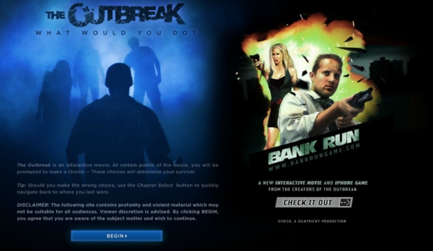 interaktif filmler – the outbreak