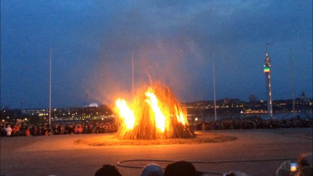 Skansen'deki Walpurgis kutlamasından bir görüntü