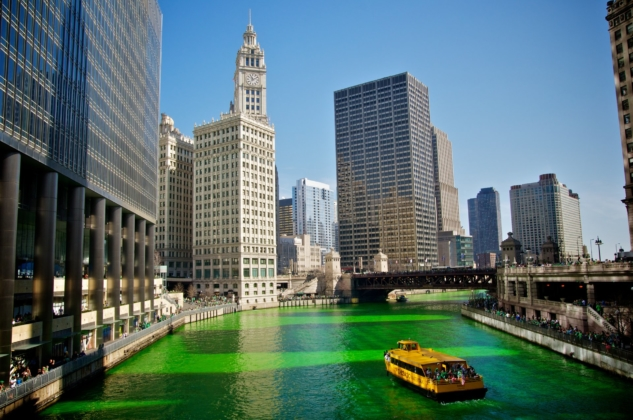 st. patrick's day – chicago river – rove.me