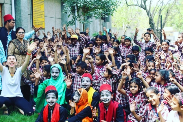 3 – Old Delhi – Community School – Pantomime Workshop – Photo Isha Bhargava