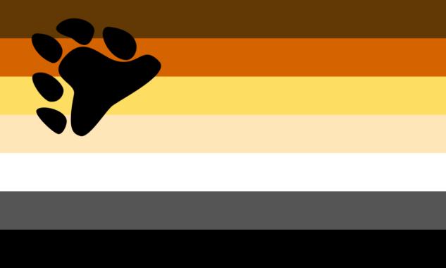 gökkuşağı bayrağı – bear pride