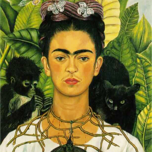 Frida Kahlo, Self Portrait with Thorn Necklace and Hummingbird