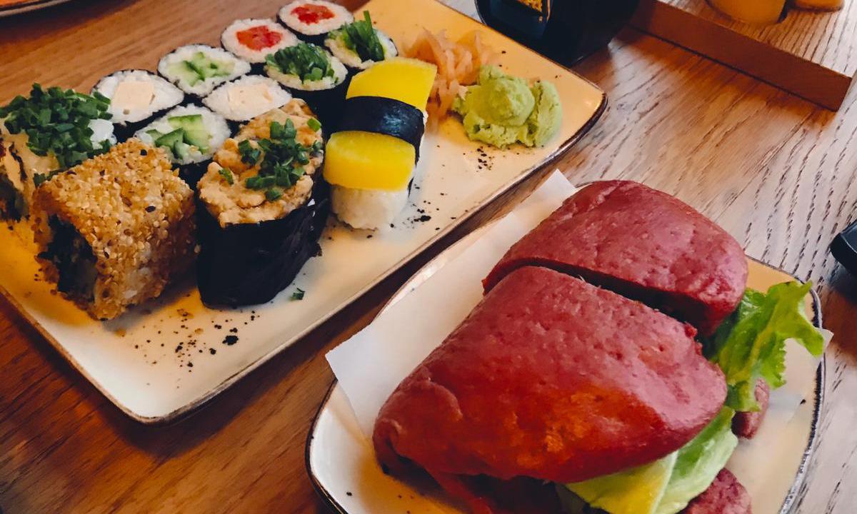 Vegan Sushi ve Pancarlı Bun