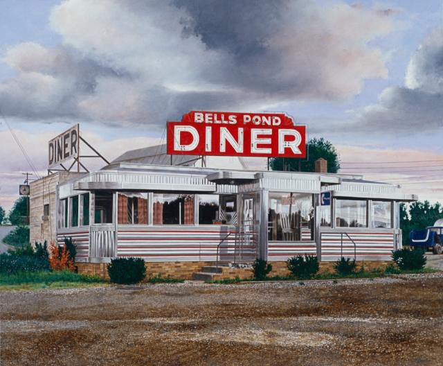 John Baeder, Bells Pond Diner, 1990
