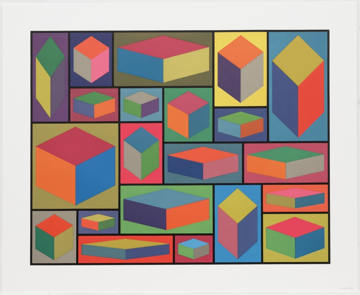 Sol LewWitt, Distorted Cubes (E) from Distorted Cubes (A-E), 2001