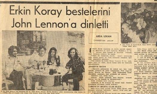 O Dönemlere Ait Bir Gazete Küpürü