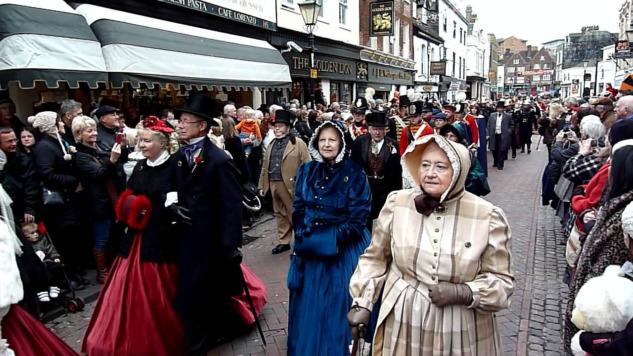 Dickensian Chrsitmas Fest, Kostüm Giyebileceğiniz Festivaller