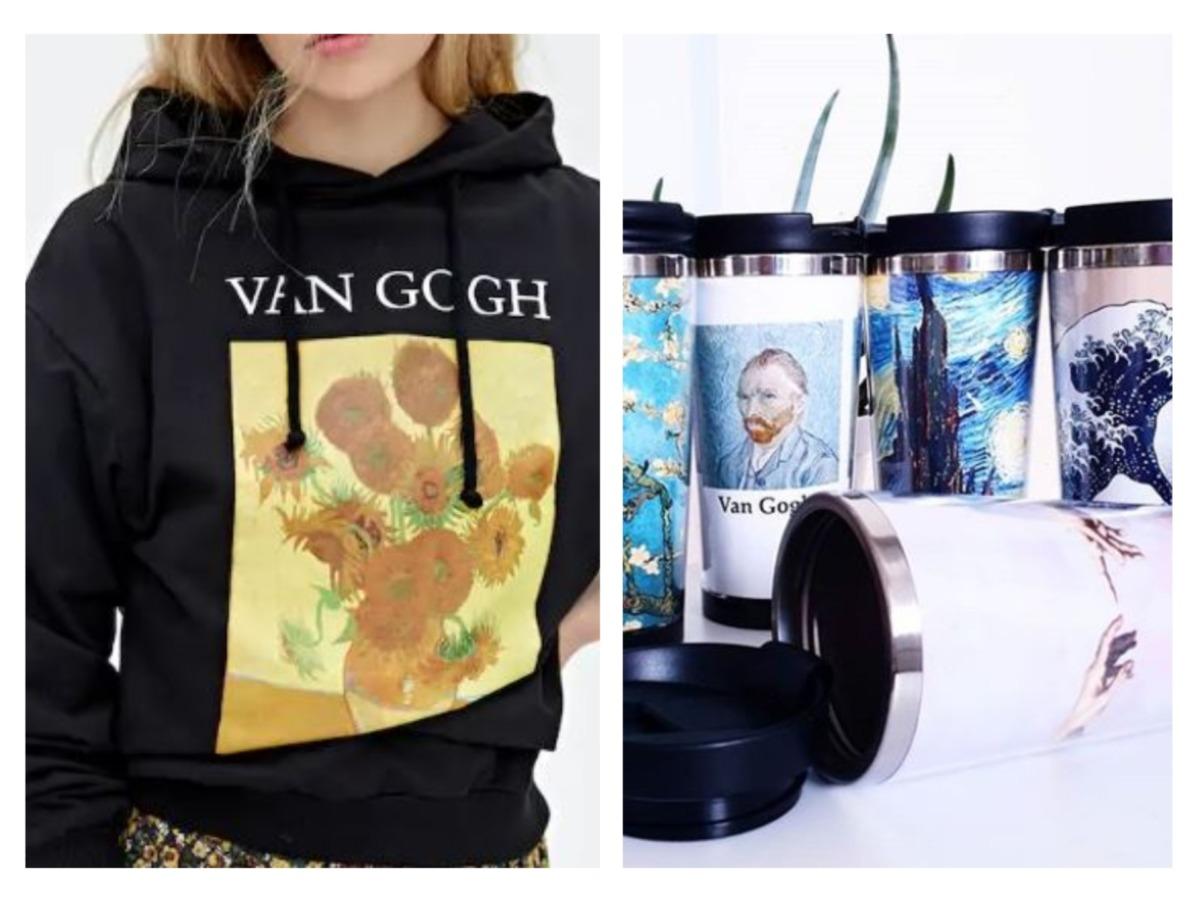 Van Gogh Ayçiçekleri Sweatshirt, Ünlü Tablolar Termos