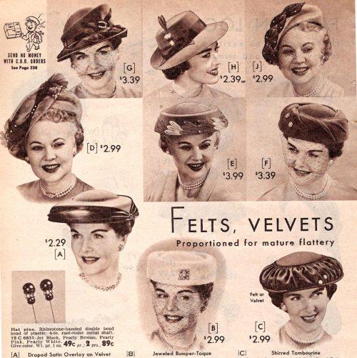 60'lar Kadın Şapkaları