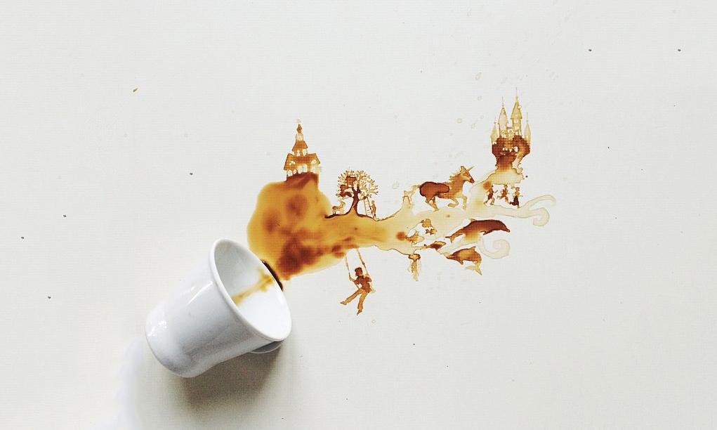 Kahve ile Resim Yapmak