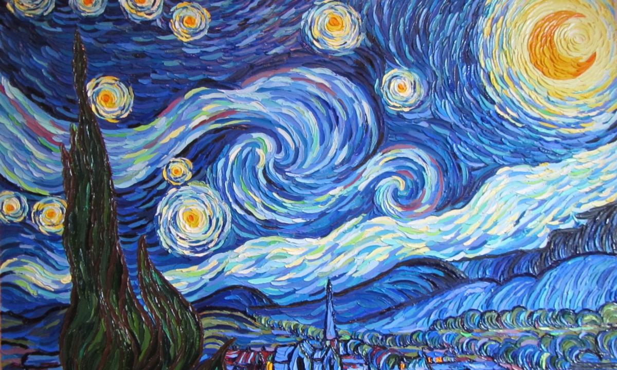 Van Gogh'un Kullandığı Impasto Örneği