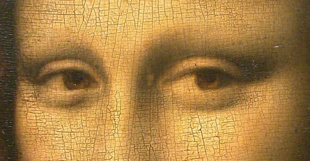 Mona Lisa'nın Göz Detaylarındaki Çatlamalar