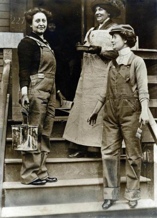 Women Wearing Overalls