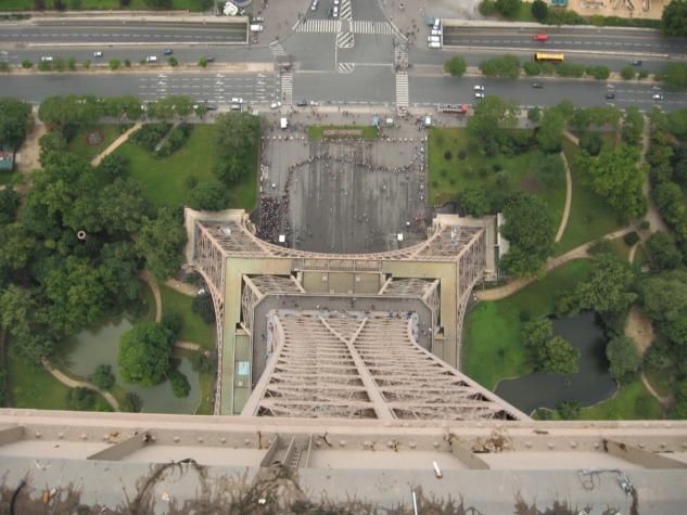 Eyfel Kulesi'nin tepesinden bakış