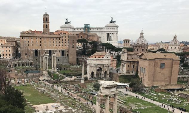 Palatino Tepesi'nden Roma Forum'u