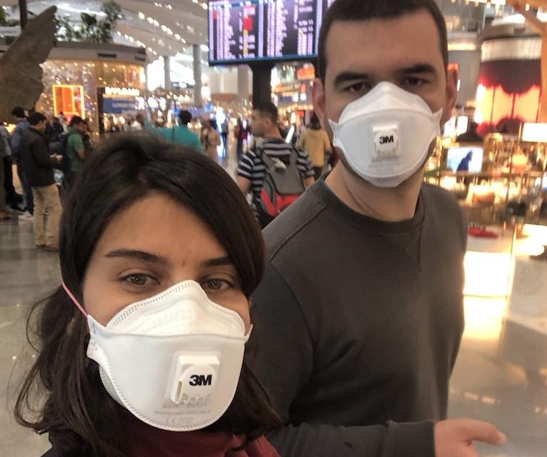 Şanghay'a dönerken İstanbul Havalimanı'nda çektiğimiz fotoğraf, 07.03.2020