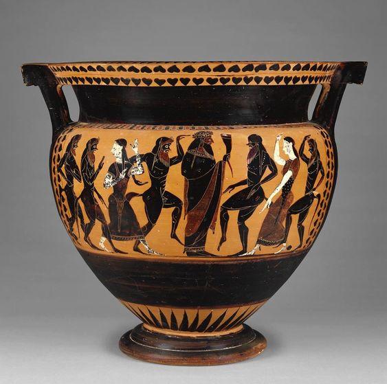 Yunan şarap tanrısı Dionysos'un betimlendiği şarap kabı