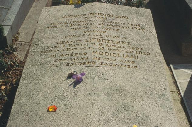 Modigliani ve Hebuterne'nin Mezar Taşı