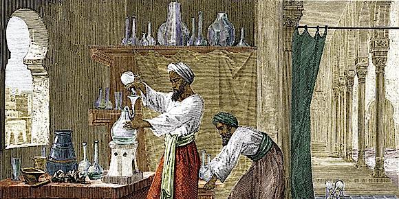 Çalışmalarında alkol kullanan Arap simyacılar