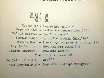 Gizemli şarkının bulunduğu 4. kasetin şarkı listesi