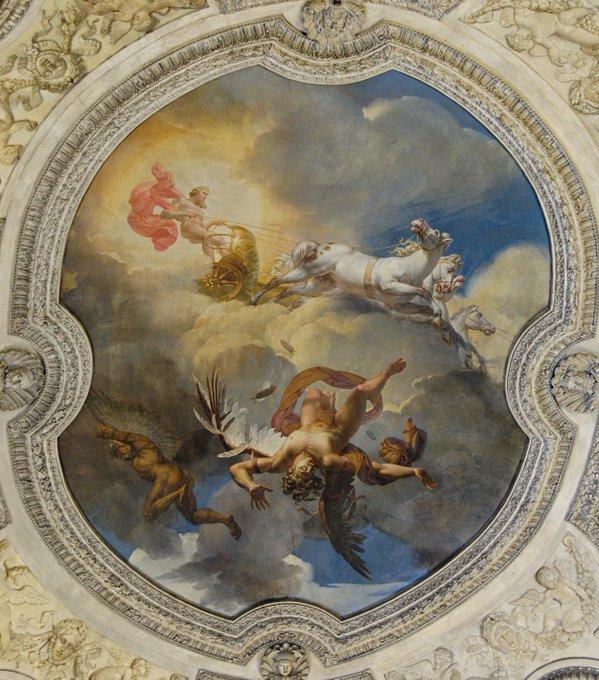 Louvre'da bulunan The Rotonde d'Apollon'un tavanı