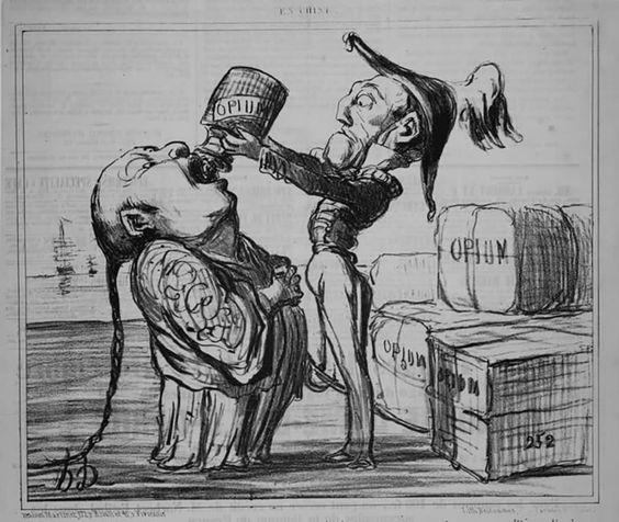 Afyon Savaşları üzerine bir karikatür