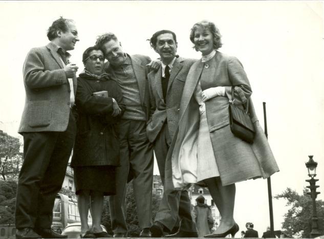 Avni Arbaş, Güzin Dino, Nazım Hikmet, Abidin Dino, Vera Tulyakova